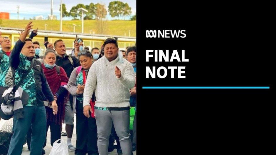 Samoan seasonal workers sing farewell thank you after COVID-19 quarantine   ABC News